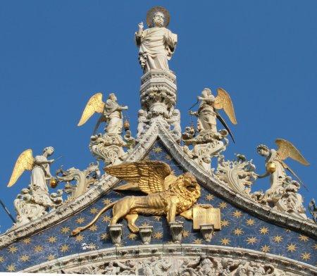 Detail of facade, San Marco Basilica in