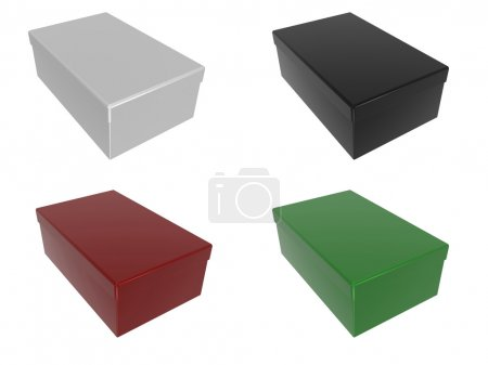 Boxes in different colors