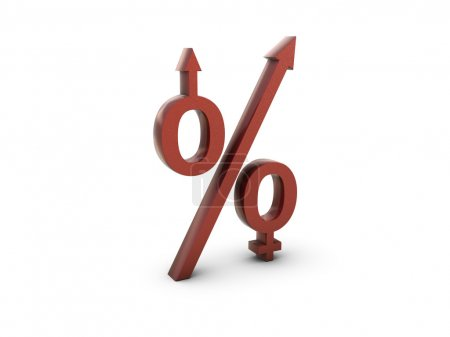 Men women percentage symbol