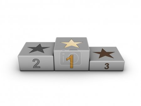 Photo for Podium with numbers and stars - Royalty Free Image