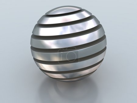Abstract silver ball