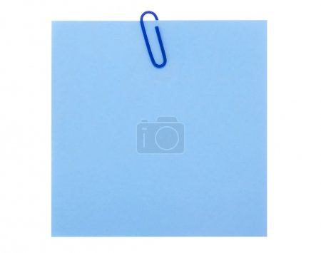 Blue paper note with clip