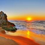 Sunrise by the beach in Tathra, NSW...