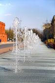 Row of waterworks