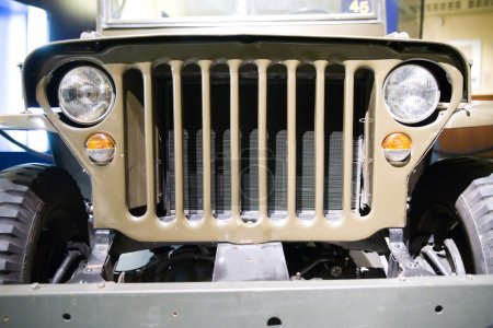 Front of old american jeep