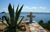 Old cross in cemetery