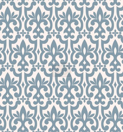 Illustration for Seamless background from a floral ornament, Fashionable modern wallpaper or textile - Royalty Free Image