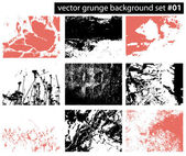 Set from several different grunge backgrounds