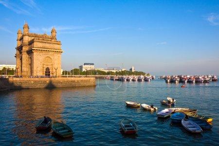 Photo for Gateway of India at sunset in Mumbai. - Royalty Free Image