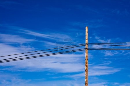 Power Lines against a Beautiful Sky