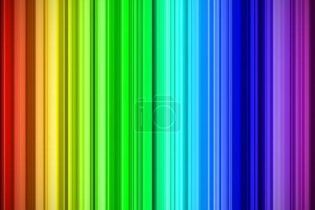 Photo pour Fond abstrait de lignes de barres colorées arc-en-ciel - image libre de droit