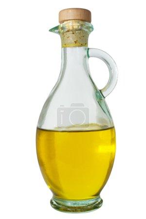Photo pour Carafe avec l'huile d'olive extra vierge - image libre de droit