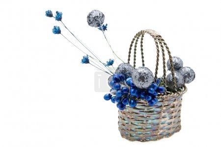 Metal decorative basket