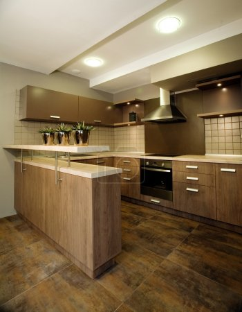 Photo for Elegant and luxury kitchen interior design. Please feel welcome to check out my huge quality library of interior design pictures. - Royalty Free Image