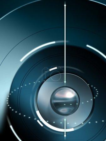Photo pour Arrière-plan conceptuel haute technologie. illustration numérique - image libre de droit