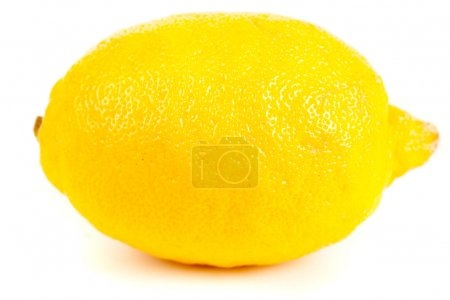Fresh yellow lemon isolated on white