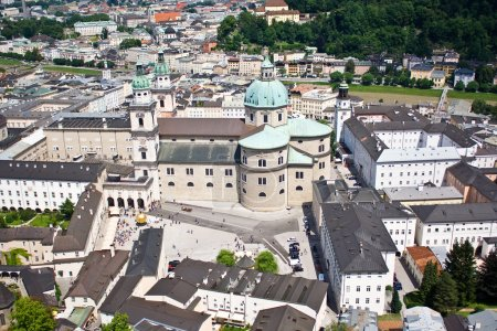 Photo for View of city of Salzburg in Austria - Royalty Free Image