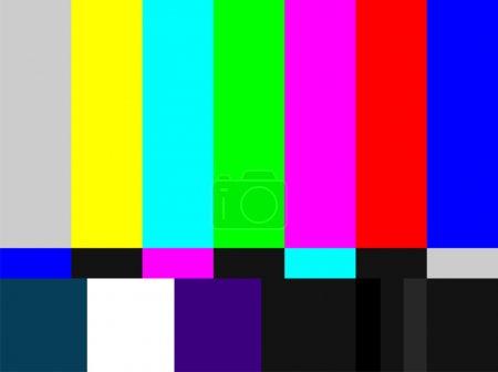 Photo pour Télévision signal barres de couleur. Signal d'essai à l'introduction et à la fin de la programmation télévisuelle . - image libre de droit