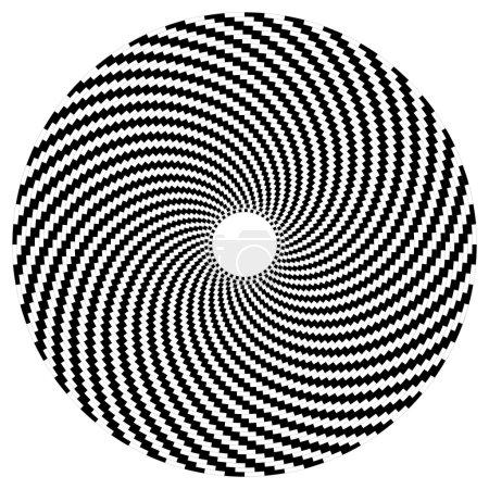 Illustration pour Sphère d'art optique en noir et blanc - image libre de droit