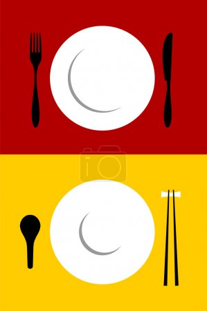 Place setting backgrounds