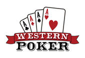 Four aces on white Poker icon