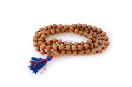Photo pour Rosaire hindouiste en bois de santal - image libre de droit