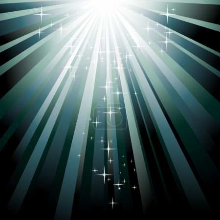 Illustration pour Modèle de Noël vectoriel festif avec étoiles - image libre de droit