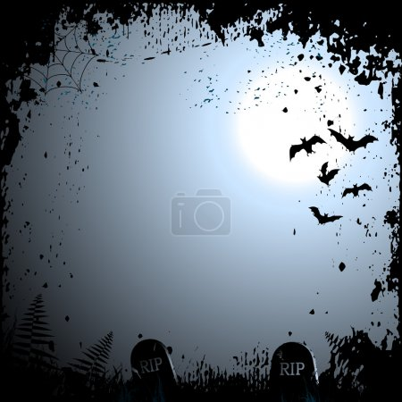 Illustration for Halloween background with place for your text - Royalty Free Image