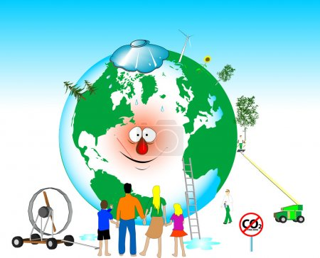 Illustration for Heal the world - Royalty Free Image