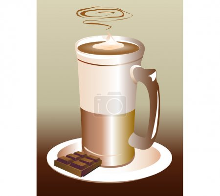 Vector Latte with chocolate