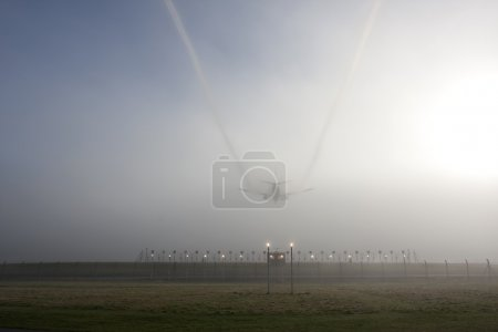 Misty landing