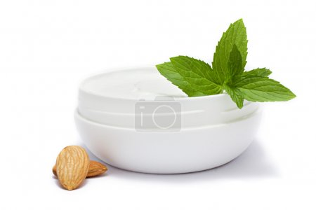 Face cream , mint and almond