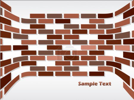 Illustration for Background with bricks - Royalty Free Image