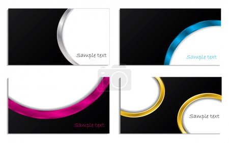 3d waved business cards