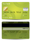 Green credit card design with tire track