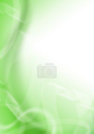 Photo pour Fond vert abstrait, coups de pinceau simulés détaillés - image libre de droit