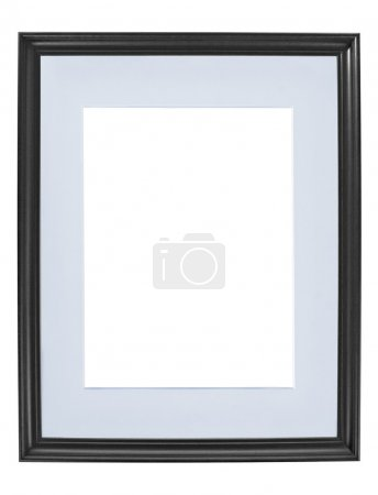 Photo for Classic wooden image frame isolated on a white background - Royalty Free Image