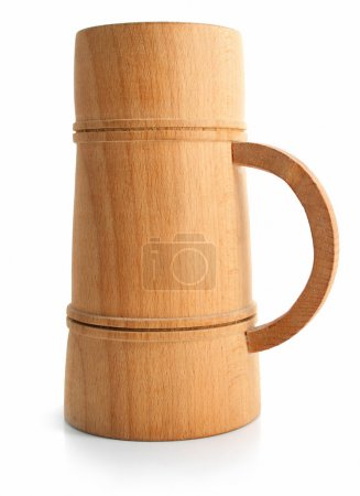 Wooden cup isolated