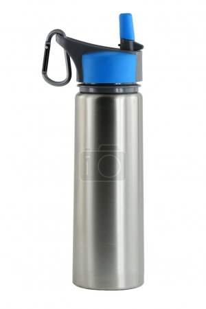 Photo for A Isolated aluminum water bottle - Royalty Free Image