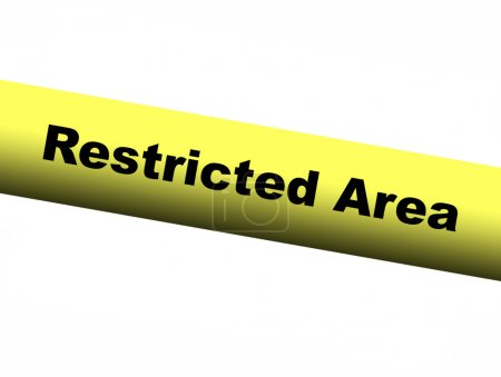Restricted area Yellow Barrier Tape