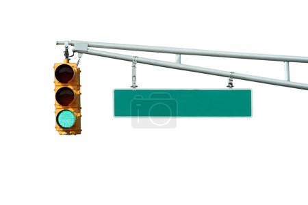 Isolated Green traffic signal