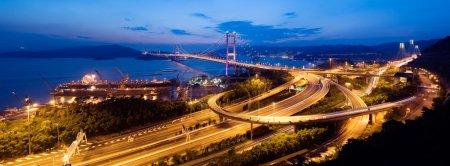 Tsing Ma Bridge in HK