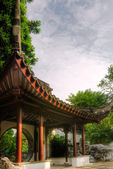 Chinese style building in the garden