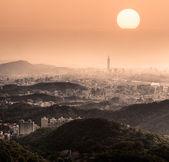 dramático paisaje urbano
