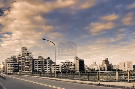 Cityscape of buildings