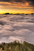 lever de soleil spectaculaire panoramique