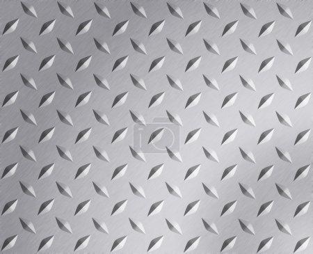 Photo pour Plaque de diamant texture métallique - image libre de droit