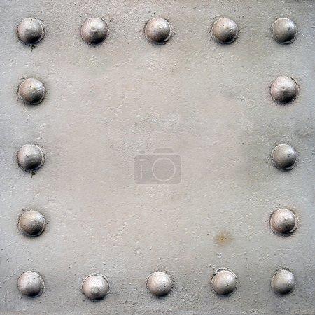 Photo pour Tôle d'acier avec rivets - image libre de droit