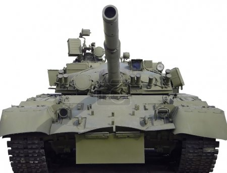 Photo pour Le char soviétique sur fond blanc - image libre de droit