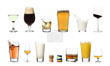 Drinks isolated on white background